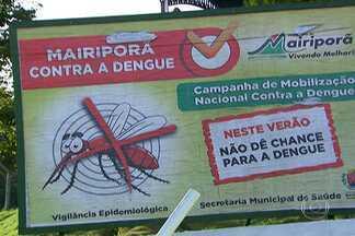 Moradores de Mairiporã estão assustados com avanço da dengue - Só no começo deste ano, 146 pessoas ficaram doentes. Número assusta porque em 2013 a cidade registrou apenas 12 casos. Doentes reclamam que o atendimento demora.