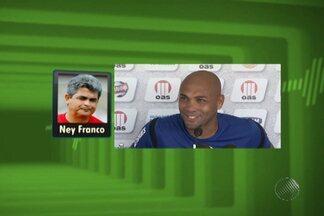 Técnico Ney Franco fala sobre a possibilidade do atacante Souza ir para o Vitória - Segundo o treinador, se depender dele, a contratação está aprovada.