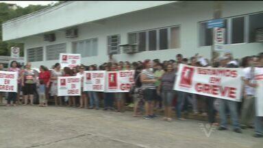 Funcionários públicos de Cajati entraram em greve - Eles pedem 15% de reajuste salarial e a prefeitura oferece 6%.