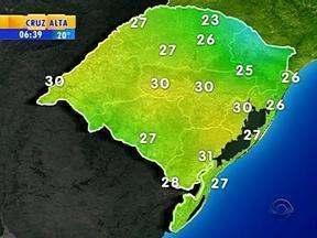 Tempo: quarta-feira será de chuva em algumas regiões do RS - Em Porto Alegre, a máxima é de 30ºC.