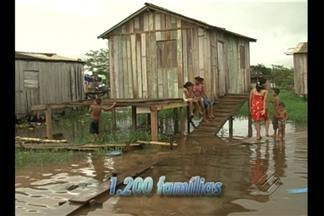 Em Altamira, famílias desabrigadas pela enchente estão vivendo em abrigos - Em Altamira, famílias desabrigadas pela enchente estão vivendo em abrigos