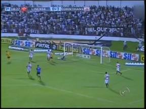Linense é goleado pelo Corinthians no Gilbertão e vai para a zona de rebaixamento - A derrota por 4 a 0 complicou a vida do Elefante no Paulistão: com apenas 10 pontos, a equipe está entre os quatro últimos colocados e corre o risco real de cair para a Série A2.