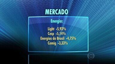 Ações de empresas do setor elétrico caem na bolsa brasileira - Preocupado com a questão energética ajudou a derrubar a bolsa. Algumas empresas tiveram queda maior do que 5% por causa da cautela dos investidores diante da falta de chuvas e gastos com termelétricas.