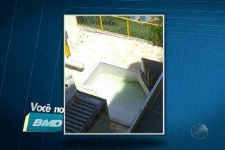 Muitos baianos estão preocupados com a dengue - Vários telespectadores enviaram fotos de piscinas e fontes com água suja e parada.