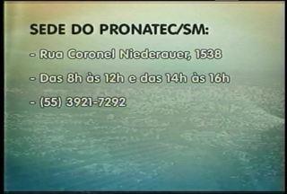 Abertas inscrições para cursos profissionalizantes do Pronatec em Santa Maria, RS - São nove cursos que estão disponíveis para pessoas que desejam uma qualificação profissional.