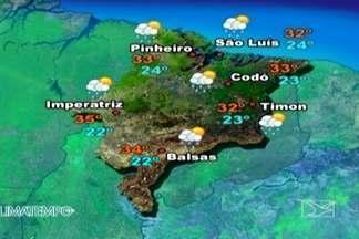 Veja como fica a previsão do tempo para esta quinta-feira (13) - Predomínio de muitas nuvens sobre o Maranhão nesta quinta-feira (13). Apenas o norte e o extremo sul do estado têm um dia de sol forte.