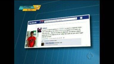 Fugitivo da cadeia que faz postagens em rede social volta para a cadeia - O caso ocorreu em Jaguariaíva. O preso foi recapturado e agora pode ficar mais quatro anos na cadeia.