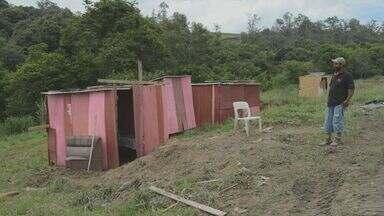 Famílias ocupam área de preservação ambiental em Piracicaba, SP - Os barracos foram construídos no bairro Costa Rica, em Piracicaba. As famílias ocuparam o espaço porque não tinham condições de pagar aluguel.
