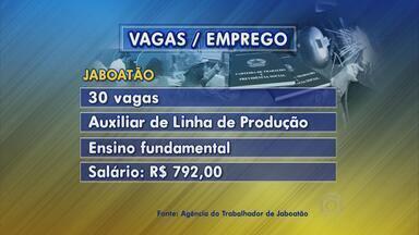 Jaboatão tem vagas para auxiliar de linha de produção e mecânico de máquinas pesadas - E também três vagas para técnico de laboratório de eletrônica de automação.