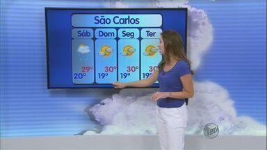 Confira a previsão do tempo para São Carlos e região nesta sexta-feira (14) - Confira a previsão do tempo para São Carlos e região nesta sexta-feira (14)