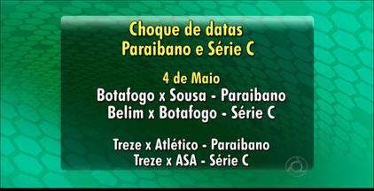 FPF divulga tabela e 2ª fase do Parabiano tem choques com Série C - Cinco jogos de Botafogo e Treze têm datas coincidentes com partidas válidas pela competição nacional.
