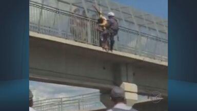 Rodovia que liga Limeira a Piracicaba fica interditada por 1h30 e causa congestionamento - Via foi bloqueada após uma pessoa ameaçar se jogar de uma das passarelas.