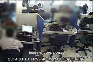 Imagens do assalto a agencia bancária são divulgadas em Aracaju - Imagens do assalto a agencia bancária são divulgadas em Aracaju.