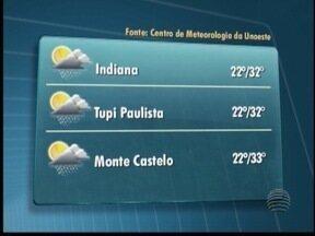 Sábado pode ter pancadas de chuva em áreas isoladas - Confira a previsão para algumas cidades do Oeste Paulista.