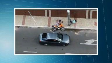 Tenente da Polícia Militar é suspeito de matar dois homens em Fortaleza - Imagem mostra momentos após o crime.
