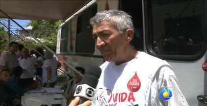 Campanha de doação de sangue está acontecendo na Paraíba até dia 19 de abril - Nesta sábado, carro de coleta de sangue está perto do Pavilhão do Chá, no centro de João Pessoa.