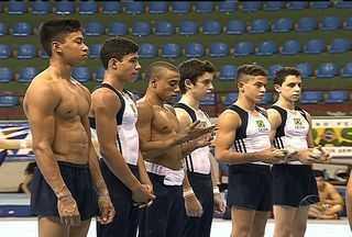 Seleção de ginástica masculina treina em Aracaju - Equipe se prepara para Pan-Americano