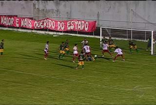 Sergipe empata com o Estanciano: 1 x 1 - Sergipe empata com o Estanciano com placar de 1 x 1, em Maruim, em Sergipe.