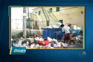 Telespectadores enviam fotos de lixo acumulado em vários pontos de Salvador - Os casos são no bairro da Saúde, Av. Garibaldi, bairros da Liberdade e Sete portas.