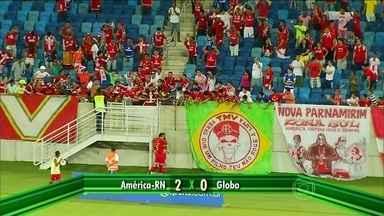 Artur Maia, do América-RN, dá grande arrancada e marca bonito gol pelo Campeonato Potiguar - Equipe vence o Globo por 2 a 0.