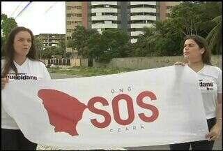 Moradores de Fortaleza colocam lençois brancos nas janelas como forma de pedir paz - Movimento começou nas redes sociais e teve grande adesão da sociedade.