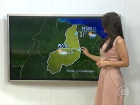 Confira a previsão do tempo para esta terça-feira em todo o Piauí - Confira a previsão do tempo para esta terça-feira em todo o Piauí