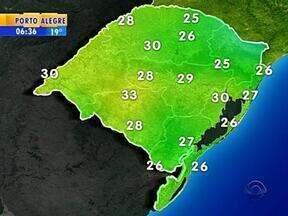 Tempo: nesta quarta-feira, a previsão é de sol entre nuvens na maioria das regiões do RS - Em Porto Alegre, a máxima é de 30ºC.