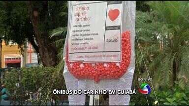 Ônibus é colocado no centro de Cuiabá para doação de sangue - Um ônibus foi colocado no centro de Cuiabá para doação de sangue.