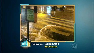 Morador grava imagens de estragos provocados por chuva em BH - Ele gravou o alagamento da Avenida Silviano Brandão, nesta terça-feira. Sudecap diz que estuda a região, mas não há dinheiro para obras.