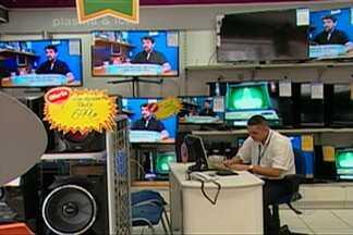 Setor de televisores registra 50% de aumento nas vendas no Alto Tietê - A procura pelas TVs e por telões está relacionada à Copa do Mundo.