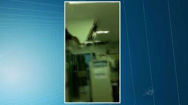 Após dois dias de manutenção, HGF volta a atender pacientes normalmente - Chuva derrubou parte do teto do hospital.