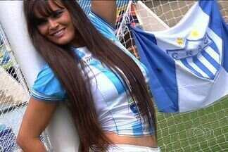 Musa do Crac manda recado para torcida do Leão - Representante do clube, Karen Stefanie pede apoio da torcida.