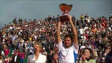 Wawrinka surpreende Federer e conquista o Masters 1000 de Monte Carlo - De virada, tenista consegue bater compatriota, após 11 jogos.
