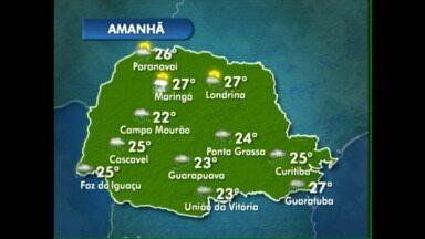 Curitiba deve ter máxima de 25° amanhã - Presença de nuvens pode trazer chuva a qualquer hora do dia.