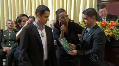 Globo Esporte recebe homenagem da Câmara Municipal de Juiz de Fora - Programa da TV Integração foi um dos contemplados com a medalha do Mérito Legislativo. Premiação é concedida a pessoas e instituições que se destacam na cidade