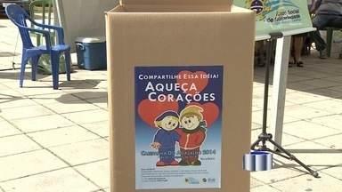 Começa a campanha do agasalho em São José dos Campos, SP - As caixas para arrecadação de doações estão sendo distribuídas e a partir de segunda estarão posicionadas em prédios públicos e diversos pontos de comércio da cidade.