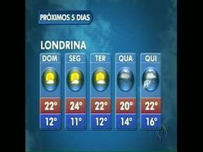 Previsão é de queda na temperatura em Londrina nos próximos dias - Em outras regiões do estado as temperaturas serão ainda mais baixas. Confira a previsão do tempo.