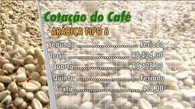 Confira a cotação do café no Espírito Santo - Café Arábica tipo 6 fechou em R$418,00, nesta sexta-feira (2).