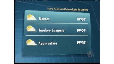 Oeste Paulista terá sol e algumas nuvens neste domingo - Confira a previsão para algumas cidades.