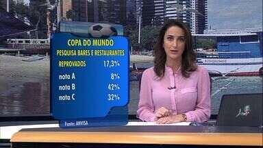 17% dos bares e restaurantes de Fortaleza foram reprovados por questões sanitárias - Pesquisa é da Anvisa com foco na Copa do Mundo
