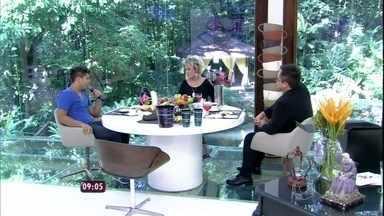 Leonardo apresenta seu filho José Felipe no Mais Você - Ana Maria ressaltou que cantor é cheio de 'borogodó'
