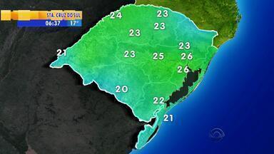 Tempo: nesta terça-feira (13), a previsão é de chuva em partes do RS - Em Porto Alegre, a máxima é de 26ºC.