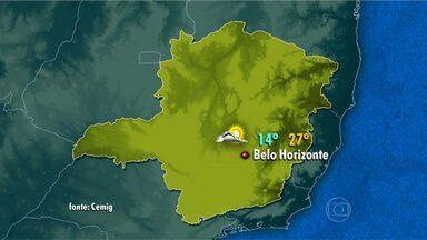 Semana termina com temperaturas em elevação em Belo Horizonte - Frio deve permanecer durante a manhã, mas temperaturas se elevam na parte da tarde.