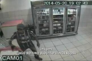 Imagens mostram assalto a padaria no sudoeste da BA - Crime ocorreu na última terça-feira (20), em Itapetinga. Valor roubado não foi divulgado.
