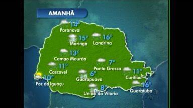 A previsão é de chuva para toda a região de Maringá - Em Campo Mourão o sol deve aparecer no sábado