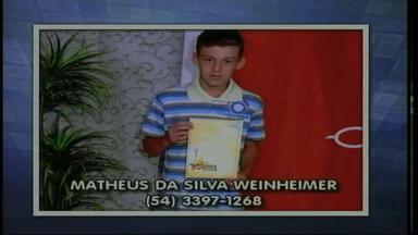 Brigada Militar de Maximiliano de Almeida, RS, bisca informaçÕes de menino de 13 anos - Ele saiu de casa para ir à escola, mas não retornou.