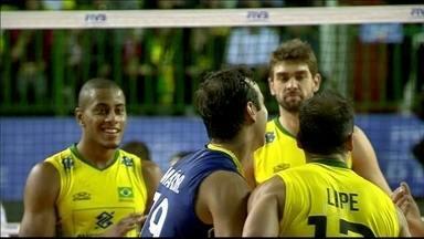 Lipe brilha, e Brasil vence a Polônia pela Liga Mundial de vôlei - Equipe faz 3 sets a 0 nos europeus.