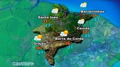 Veja como fica a previsão do tempo para esta sexta-feira (30) - Nesta sexta-feira, o sol predomina no Centro-Sul do estado e não chove.