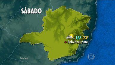 Vento deixa tempo ainda mais frio em BH durante fim de semana - Neste sábado, temperatura deve variar entre 13ºC e 23°C.