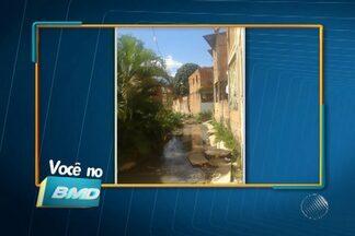 Telespectadores enviam imagens de problemas com esgoto em Salvador - Confira no quadro Você no BMD.